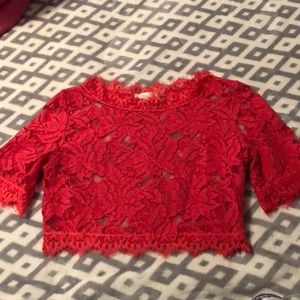 Luxxel Tops - Lace Crop Top